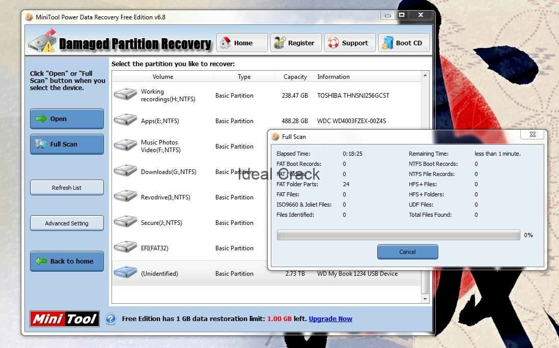 MiniTool Power Data Recovery 8.6 Serial + License Key [2019]